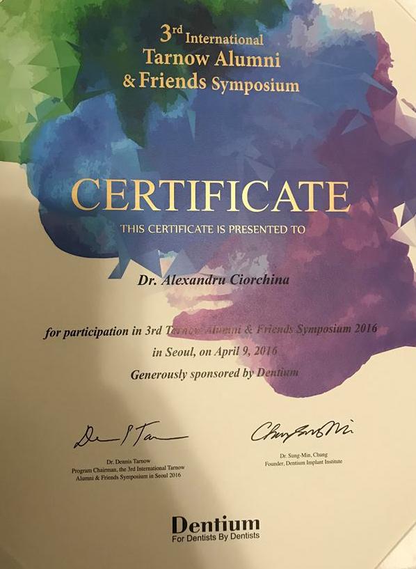 Certificat Sanelen DENT Ciorchina Alexandru