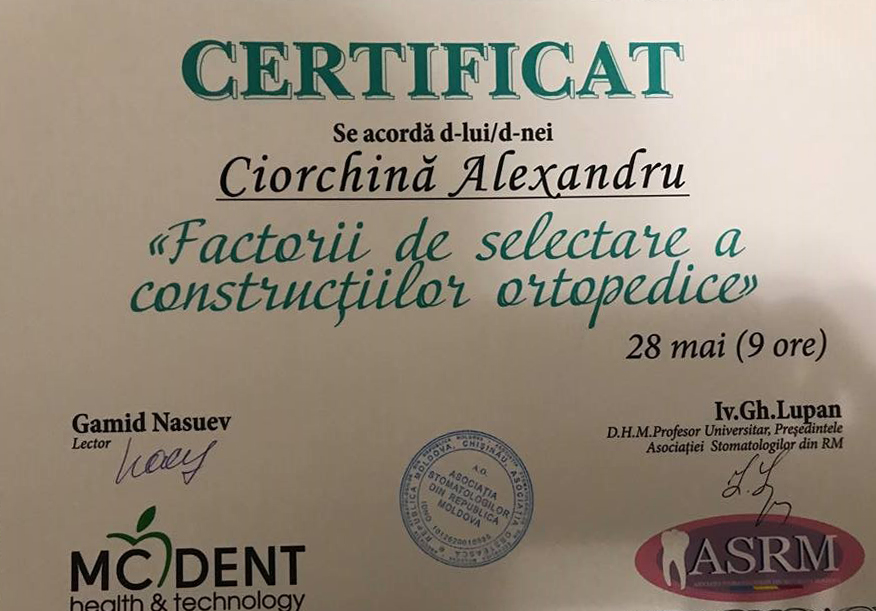 Sanelen DENT Certificat